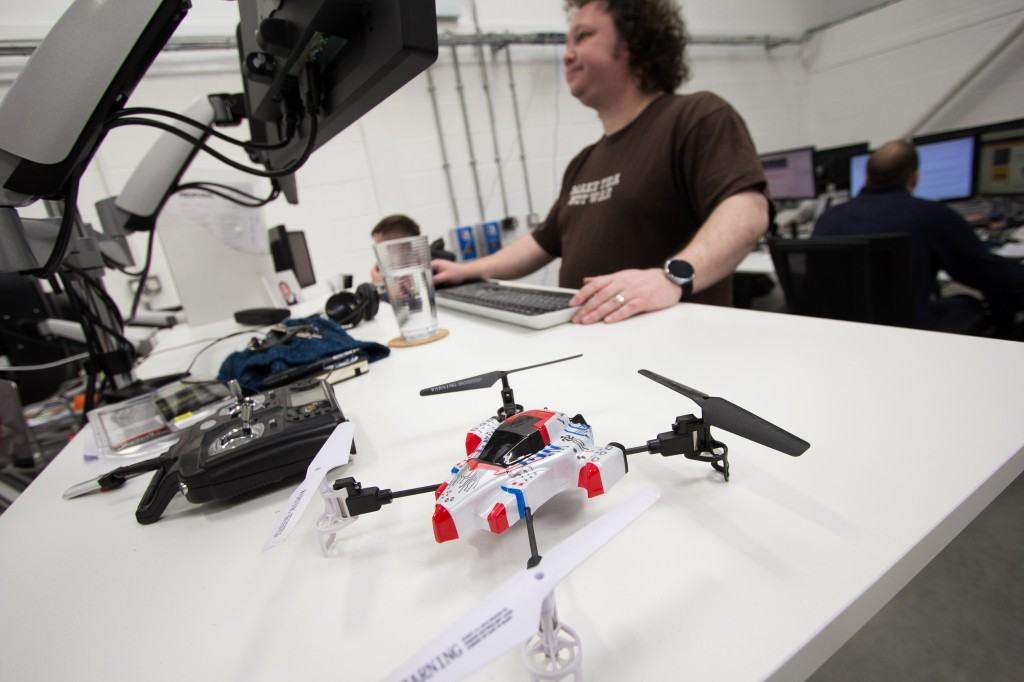 New office in Grimsby - Joe and quadcopter