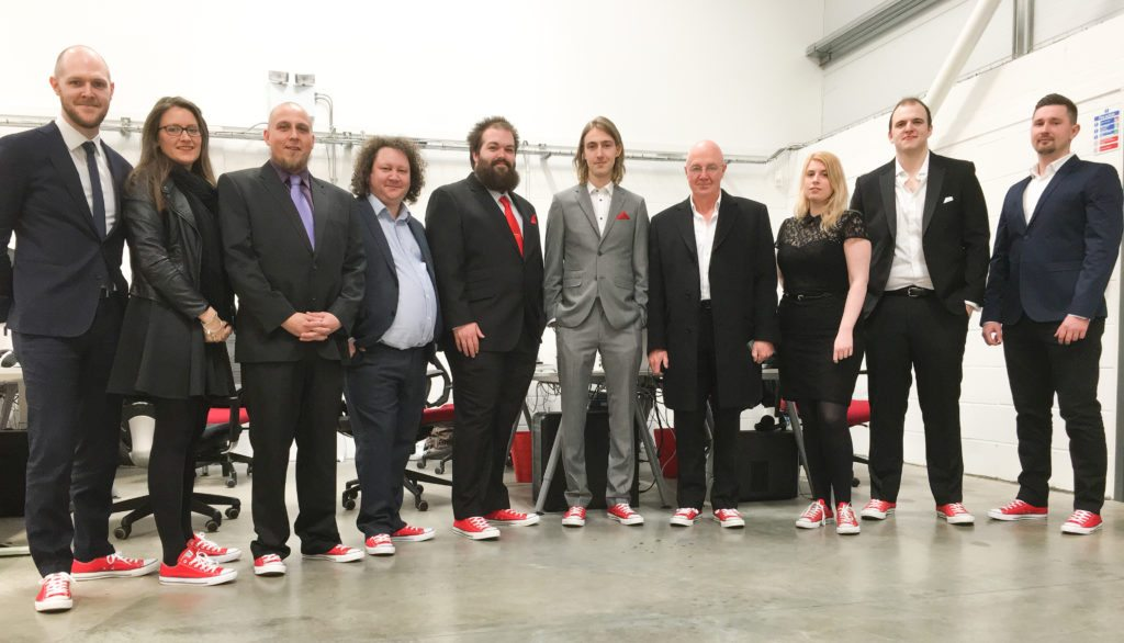 Team photo in red converse for Lincs Digital Awards