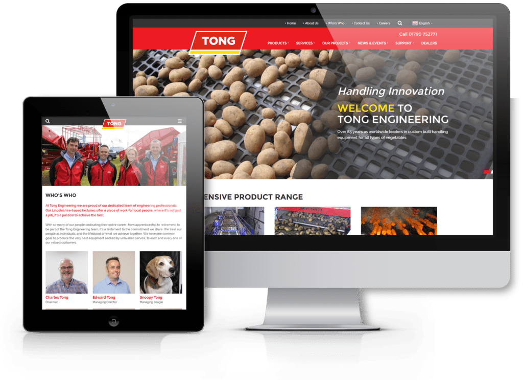 Tong Engineering Award Winning Website | Laser Red