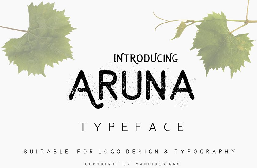 Aruna - Top Free Font for 2017