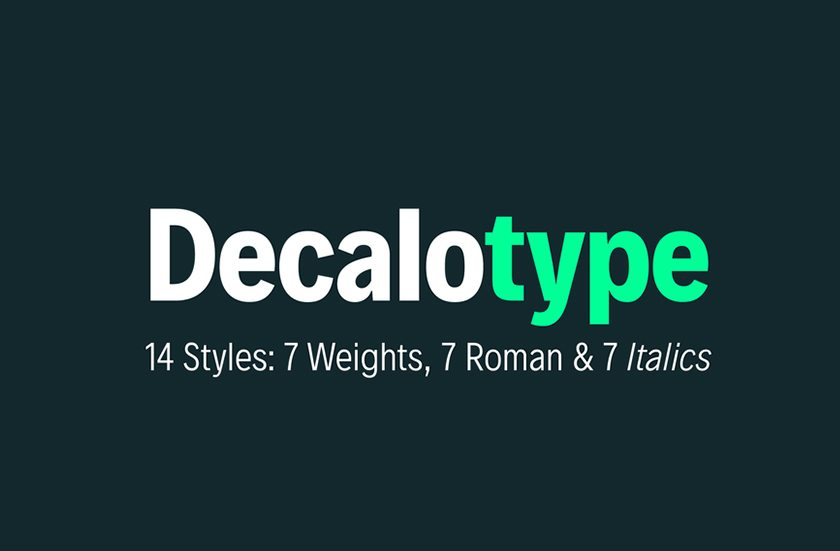 Free Designer Fonts - Decalo