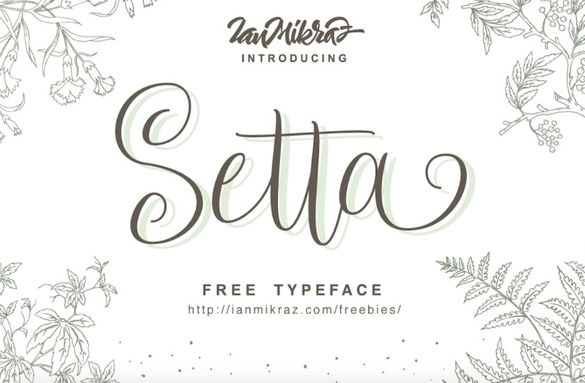 Free designer font - Setta