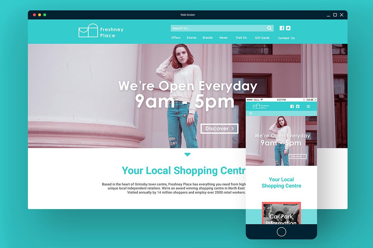 Freshney Place Website Visual