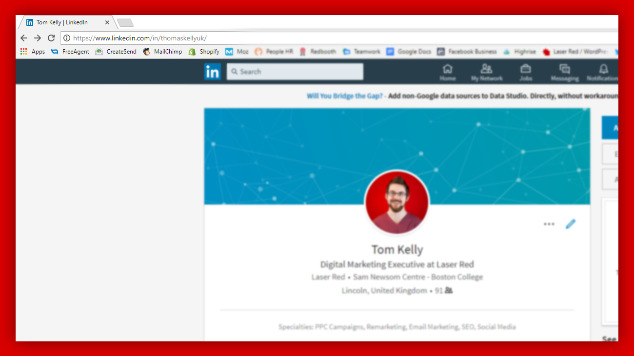 Customise your personal LinkedIn URL