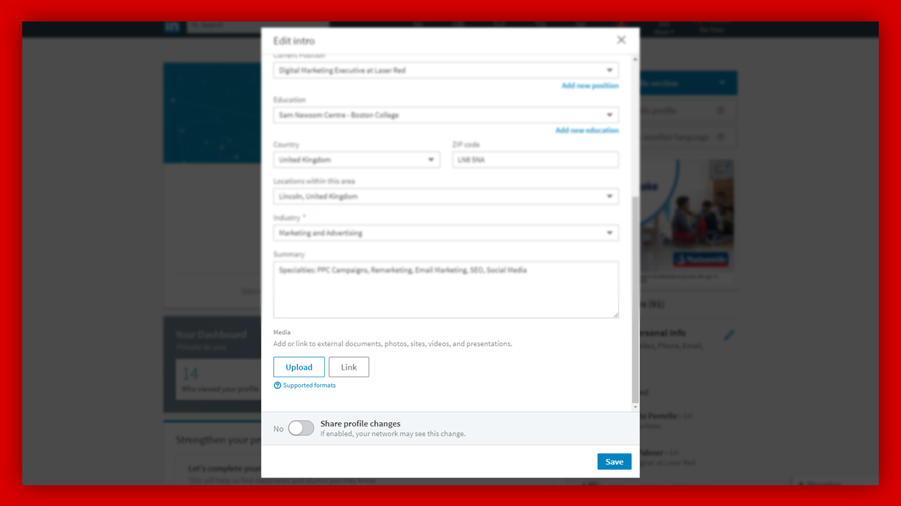 Upload your own media to LinkedIn
