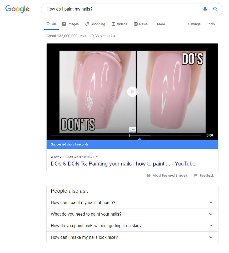 Position Zero results for nails